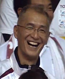 ① お父さんの黒後洋さんは、バレーボールの名監督. Kurogo,Hiroshi 黒後愛